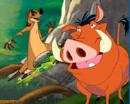 Timon and Pumba grub ridin online játék